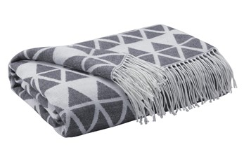 Accent Throw-Woven Diamond Gray