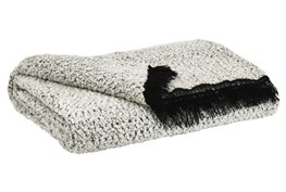 Accent Throw-Hand Woven Black /White