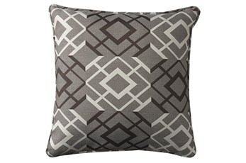 Accent Pillow-Geometric Brown/Cream 18X18