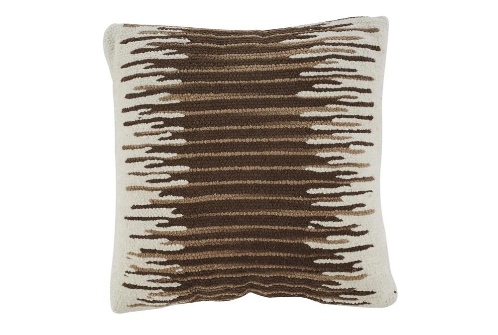 Accent Pillow-Handwoven Stripe Brown/Cream 20X20