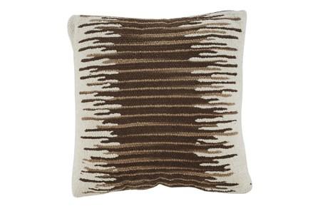 Accent Pillow-Handwoven Stripe Brown/Cream 20X20 - Main