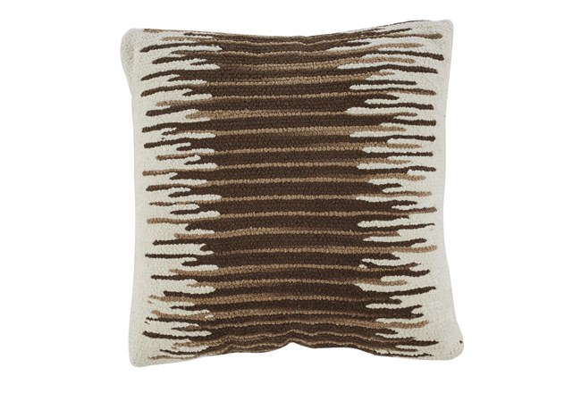Accent Pillow-Handwoven Stripe Brown/Cream 20X20 - 360