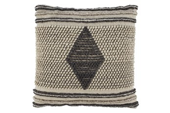 Accent Pillow-Handwoven Diamond Gray/Cream 20X20