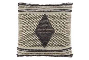 Accent Pillow-Handwoven Diamond Gray/Cream 20X20