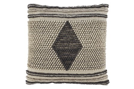 Accent Pillow-Handwoven Diamond Gray/Cream 20X20 - Main