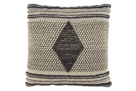 Accent Pillow-Handwoven Diamond Gray/Cream 20X20 - Main