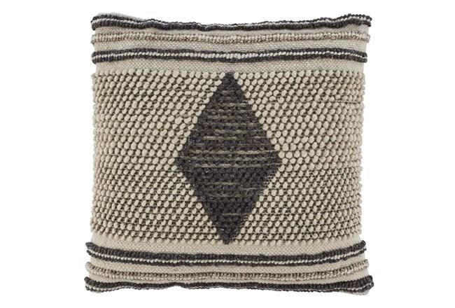 Accent Pillow-Handwoven Diamond Gray/Cream 20X20 - 360