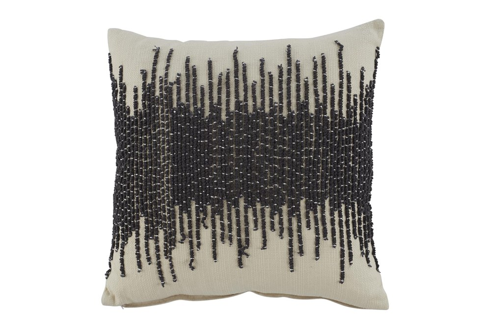 Accent Pillow-Abstract Cream/Dark Gray 20X20