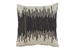 Accent Pillow-Abstract Cream/Dark Gray 20X20