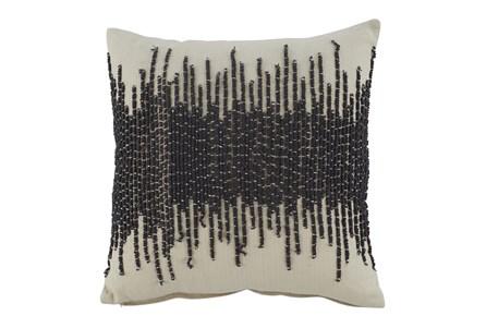 Accent Pillow-Abstract Cream/Dark Gray 20X20 - Main