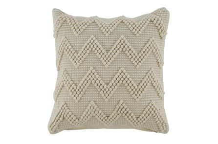 Accent Pillow-Chevron Cream 20X20 - Main