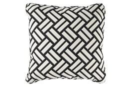 Accent Pillow-Geometric Trend Black/White 20X20