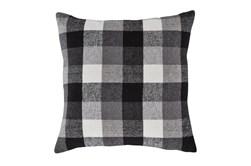 Accent Pillow-Plaid Charcoal/White 20X20