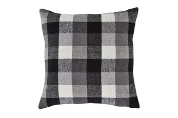 Accent Pillow-Plaid Charcoal/White 20X20
