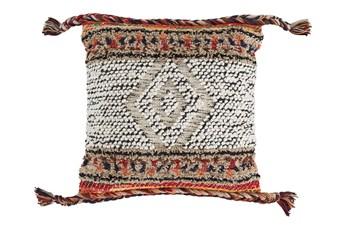 Accent Pillow-Braided Tassel Multi 18X18