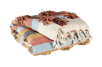 Accent Throw-Striped Boho Multi