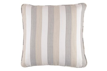 Accent Pillow-Striped Tan/Cream/Gray 20X20