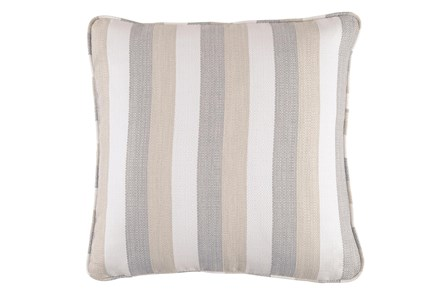 Accent Pillow-Striped Tan/Cream/Gray 20X20 - Main