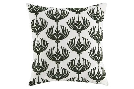 Accent Pillow-Botanical Cream/Emerald 20X20 - Main