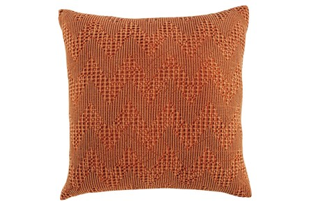 Accent Pillow-Jacquard Chevron Rust 20X20 - Main