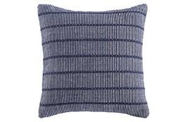 Accent Pillow-Handwoven Stripe Navy/White 20X20