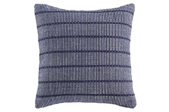 Accent Pillow-Handwoven Stripe Navy/White 20X20