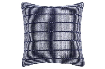 Accent Pillow-Handwoven Stripe Navy/White 20X20 - Main