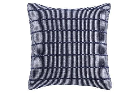 Accent Pillow-Handwoven Stripe Navy/White 20X20 - Main