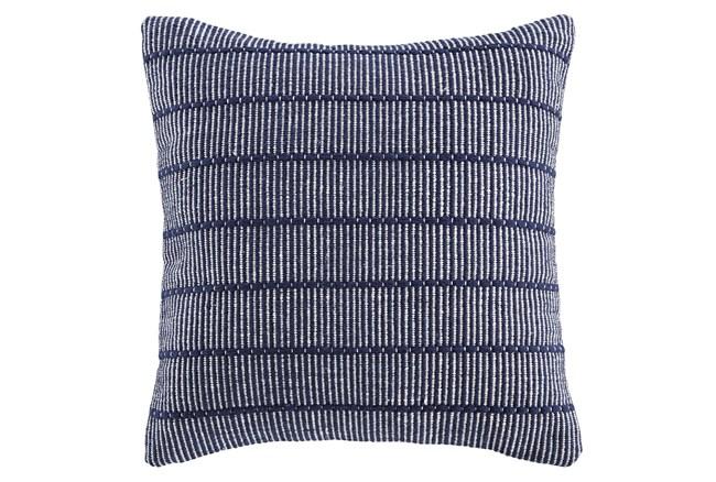 Accent Pillow-Handwoven Stripe Navy/White 20X20 - 360