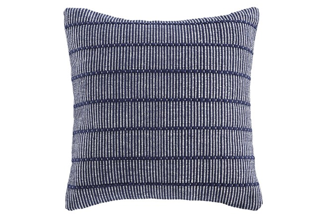 Accent Pillow-Handwoven Stripe Navy/White 20X20 - 360