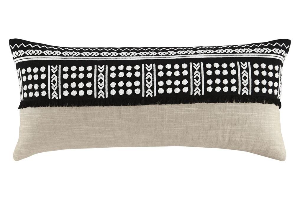 Accent Pillow-Global Black/Natural 36X14