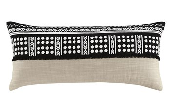 Accent Pillow-Global Black/Natural 36X14
