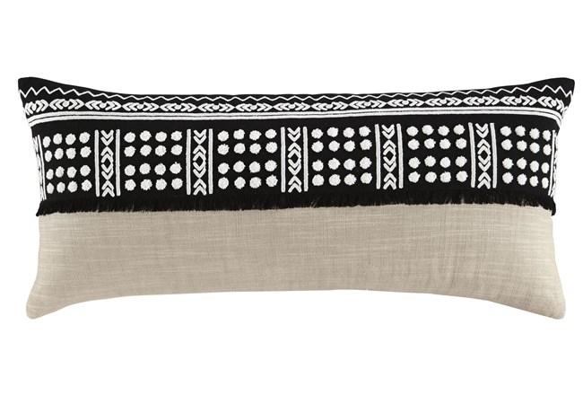 Accent Pillow-Global Black/Natural 36X14 - 360