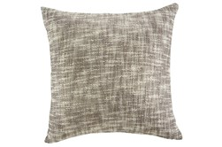Accent Pillow-Slub Texture Natural/Taupe W/ Gold 20X20