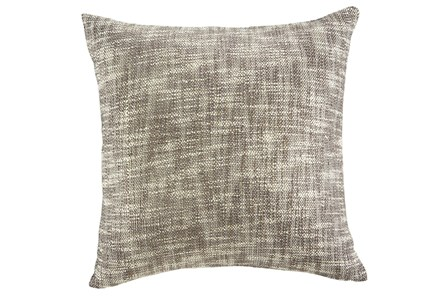 Accent Pillow-Slub Texture Natural/Taupe With Gold 20X20 - Main
