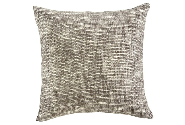Accent Pillow-Slub Texture Natural/Taupe With Gold 20X20 - 360
