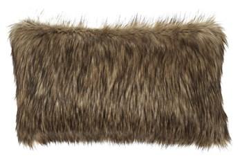 Accent Pillow-Faux Fur Caramel 26X14
