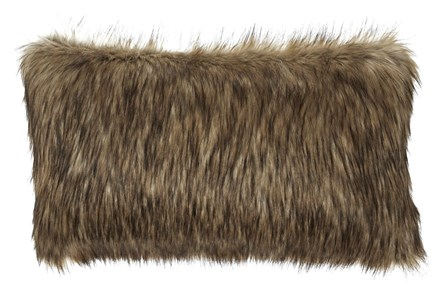 Accent Pillow-Faux Fur Caramel 26X14 - Main