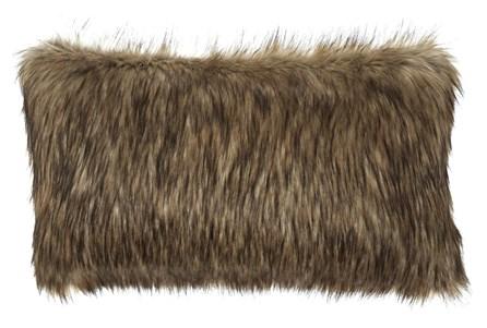 Accent Pillow-Faux Fur Caramel 26X14 - Main