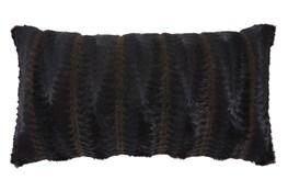 Accent Pillow-Faux Fur Brown/Black 26X14