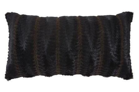 Accent Pillow-Faux Fur Brown/Black 26X14 - Main