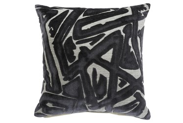 Accent Pillow-Jacquard Abstract Gray 20X20
