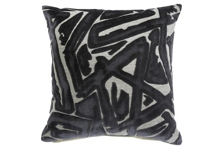 Accent Pillow-Jacquard Abstract Gray 20X20 - Main