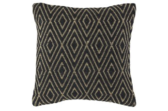 Accent Pillow-Diamond Black/Tan 20X20