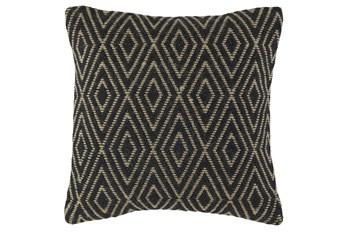 Accent Pillow-Diamond Black/Tan 20X20