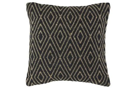 Accent Pillow-Diamond Black/Tan 20X20 - Main