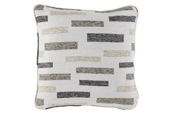 Accent Pillow-Block Black/Brown/Cream 18X18