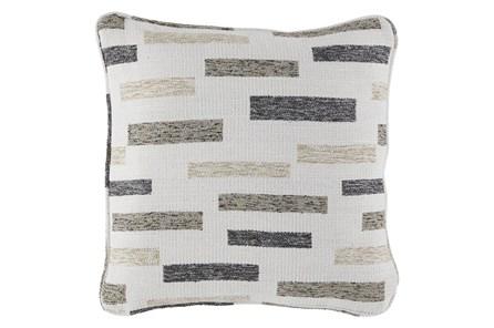 Accent Pillow-Block Black/Brown/Cream 18X18 - Main