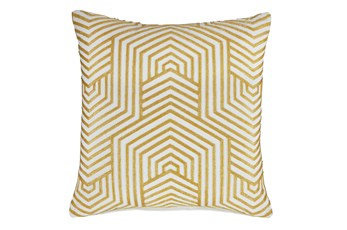 Accent Pillow-Aari Geometric Golden Yellow 20X20