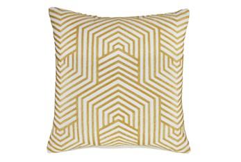 Accent Pillow-Aari Geometric Golden Yellow 20X20